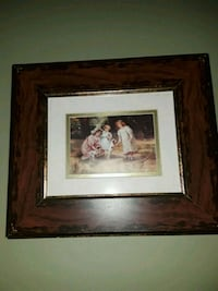 three children and two dogs painting and brown wooden frame West Babylon, 11704