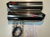 SCORPION SLIP-ON EXHAUST KAWASAKI ZX [TL_HIDDEN]    We have limited stock of these beautiful stainless Scorpion mufflers. These are top-quality exhausts manufactured in England; includes two mufflers (left & right), stainless end caps, mounting hardware,