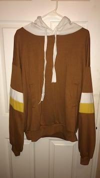 brown men's goodie with white and yellow stripes on sleeves Markham, L3S 4P3