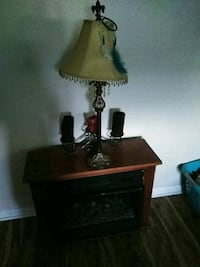 brown and white table lamp Maiden, 28650