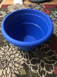 Blue and black plastic container $5 each