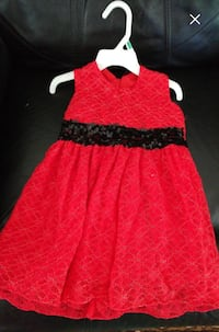 Beautiful red dress for toddler girls size 3T-4T Regina, S4R