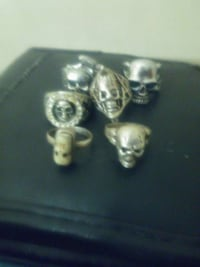 Skull rings silver and steel Rochester, 14617