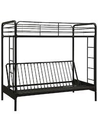Twin over full metal bunk bed frame.
