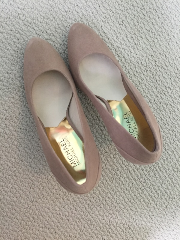 00400a398d1 Used Michael Kors nude suede pumps for sale in TORONTO - letgo