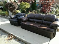 Brown leather couches!! Extremely compfortable  Toronto, M4B 1A9