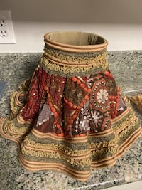 Lamp shade customized unique fabric table lamp