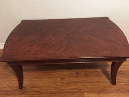Wooden coffee table.