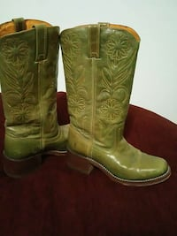 green leather cowboy boots Prineville, 97754