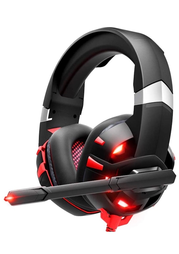 Gaming Headset Xbox One Headset with 7 1 Surround Sound Stereo, PS4 Headset  with Noise Canceling Mic & LED Light, Compatible with PC, PS4, Xbox One
