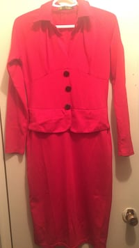 Size L shirt dress with long sleeves Red colour  Toronto, M9W 3X1
