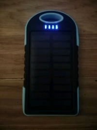 Solar powered backup battery for phones and devices