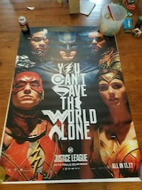Justice league 5 foot by 4 foot Wilmington, 28401