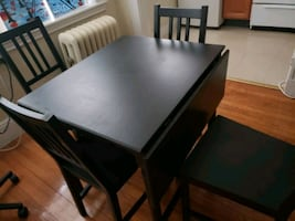 Ikea drop leaf Dining table set