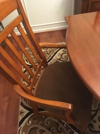 Table & 8 chairs with sideboard.  Solid wood Ashburn, 20148