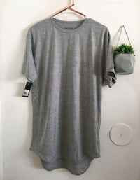 Curved the gray woman T-shirt dress Los Angeles, 91402