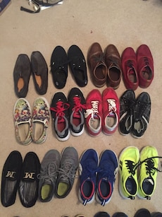 assorted pairs of shoes