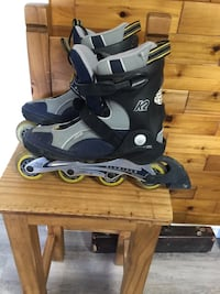 Pair of gray-and-blue inline skates Maple Ridge, V2X 2N9