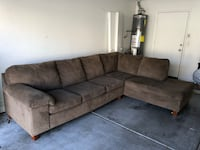 Great condition brown/gray sectional couch Mesa, 85213