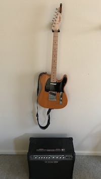 Fender Squier Tele electric guitar and amp 48 km