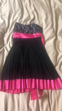 black and pink spaghetti strap dress Westminster, 80003
