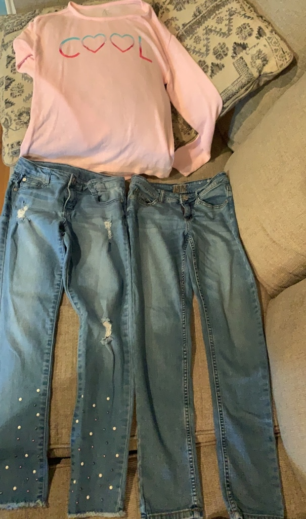 Photo Girls 10/12 jeans/jegging/shirt/Children's Place/Gap/Justice Old Navy