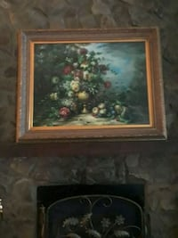 Flowers and fruit. Original oil painting by Vargas North Charleston