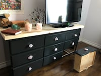 Handmade wood dresser with genuine quartz handles Edmonton, T6E 1A9