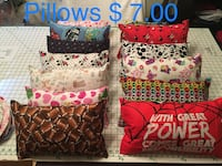 Three assorted color throw pillows Marysville, 95901