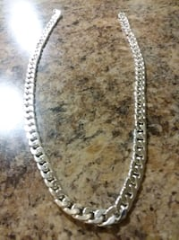 Sterling Silver 22inch Men's Chain (New) Washington