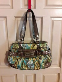 black, green, and blue floral tote bag Stockton, 95206