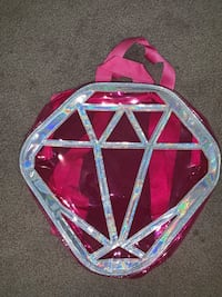 Clear diamond mini backpack