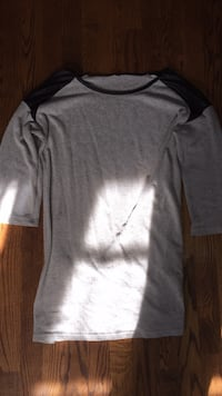 Leather shoulder grey sweater Springfield, 22150
