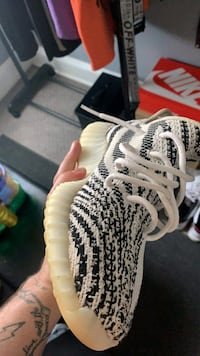 yeazy zebras size 9 1/2  want 2 for 1 trade Jordan's or cash and trade
