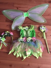 Toddler girl green fairy halloween costume Pointe-Claire, H9R 5S9