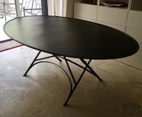 Black steel oval dinning table Alcobendas, 28109