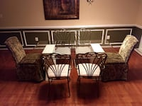 Glass Dining Room Table & 6 Chairs HAYMARKET