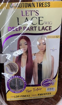 "30"" Wine Color Lace Part Synthetic Wig Baltimore, 21229"