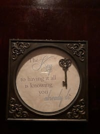 Brown skeleton key themed quote canvas