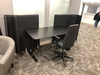 Desk adjustable desk with chair and dividers  Seal Beach