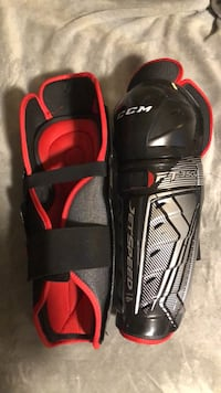 Ccm jet speed ft350 shin pads senior 14 inch hockey
