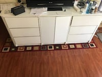 Make up Wood Carbinet with 6 drawers and 2 compartments Beverly Hills