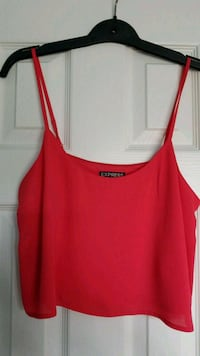 Express Small Pink/Red Crop Tank