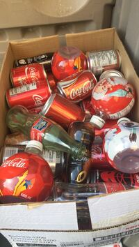 Coca Cola cans collection very interested cans never made to market pick up only at location Vaughan, L4L 6P5