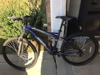blue and black full-suspension mountain bike Fayetteville, 28306