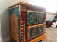 Hand painted accent cabinet Herndon, 20170
