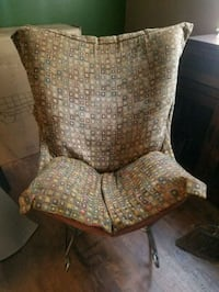 brown and gray fabric sofa chair Frederick, 21702