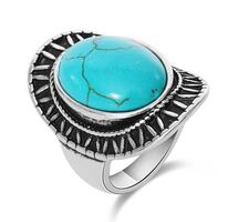 New Vintage turquoise cabochon ring Size 7.5