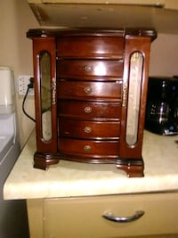brown wooden 3-drawer chest Red Deer, T4N 1W7