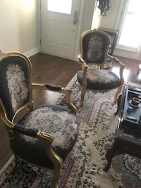 Two gold painted antique armchairs Toronto, M3C 1L8